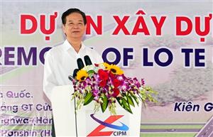 Phát lệnh khởi công con đường mơ ước của đồng bào Kiên Giang