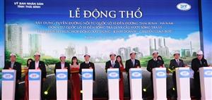 Thái Bình khởi công xây dựng tuyến đường huyết mạch gần 1.500 tỷ đồng