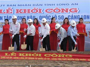Khởi công Dự án đường Tân Tập-Long Hậu-QL50-Cảng Long An