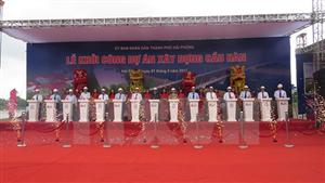 Khởi công hai cây cầu nối Tiên Lãng, Vĩnh Bảo với nội thành Hải Phòng