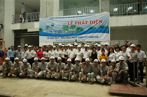 Lễ phát điện tổ máy số 1 - Thủy điện Vĩnh Hà (ngày 20 - 06 - 2016)