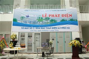 Lễ phát điện tổ máy số 2 - Thủy điện Vĩnh Hà (ngày 16 - 08 - 2016)